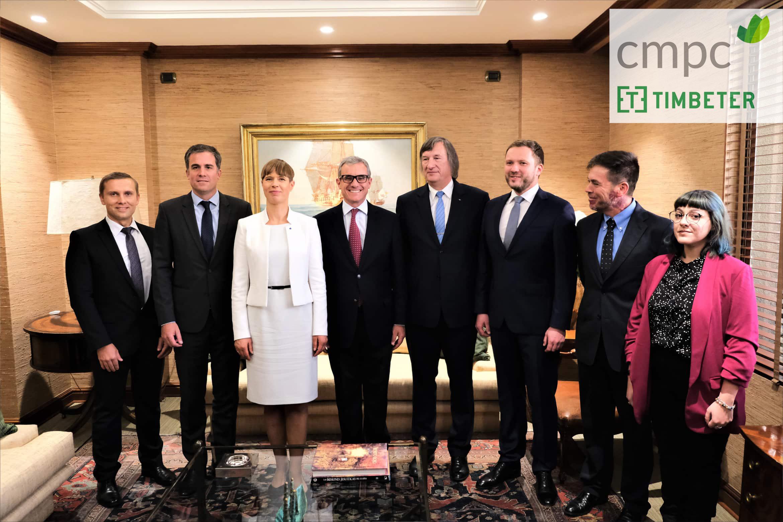 Asociación exitosa entre Timbeter y CMPC presentada a la Presidenta de Estonia en Chile