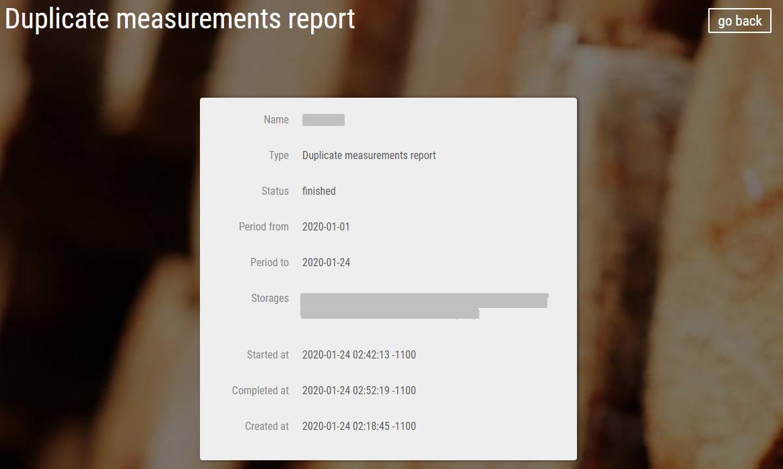 Новая опция Timbeter позволяет распознавать дубликаты измерений