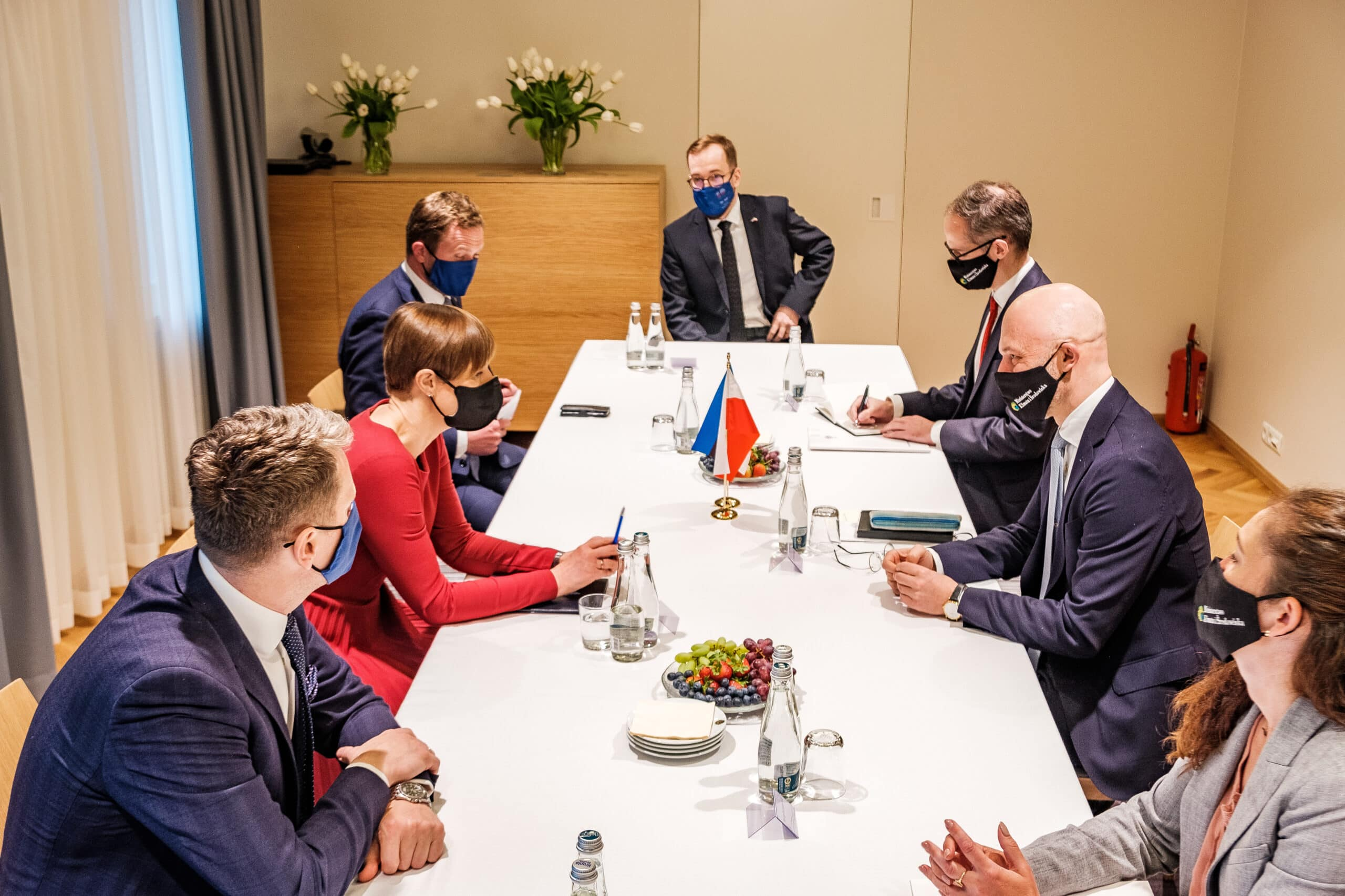 Timbeter takes part of a state visit of the President of Estonia to Poland